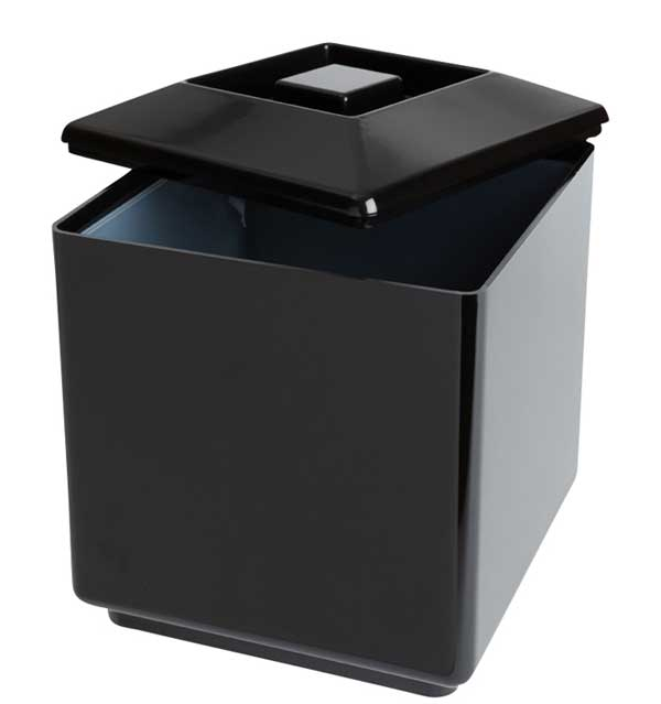 Square Plastic Ice Bucket Black