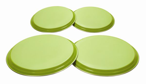 Colours 4Pc Hob Covers - Lime