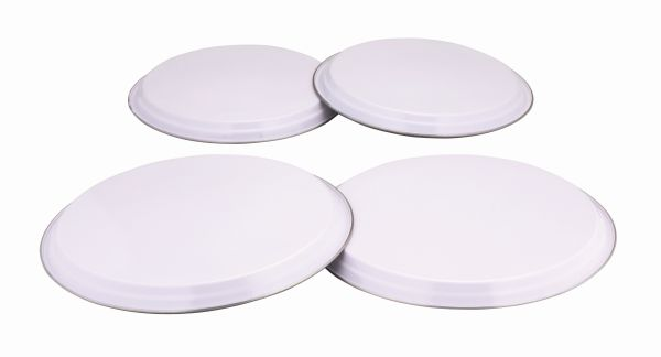 Colours 4Pc Hob Covers - White