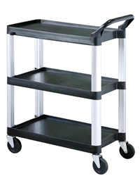 Sunnex Clearing Trolley, 3 Shelves, Black