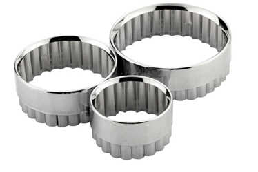 Metal Pastry Cutters 3 Pc