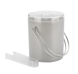 Ice Bucket & Tongs 1.75 Ltr  Matt Finish