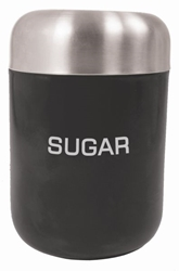 Colours Sugar Canister Black S/S Lid