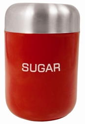 Colours Sugar Canister Red S/S Lid