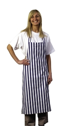 Bib Apron Blue & White Stripe
