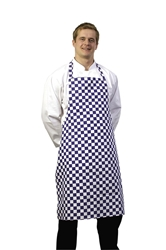 Bib Apron Blue & White Check