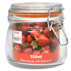 11 Cm Cliptop Glass Preserving Jar 525Ml