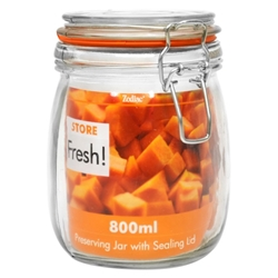 14 Cm Cliptop Glass Preserving Jar 800Ml