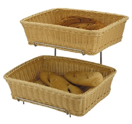 Polyrattan Basket Heavy Duty 2Pc 36X27X9Cm