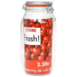 25.5 Cm Cliptop Glass Preserving Jar 2300Ml