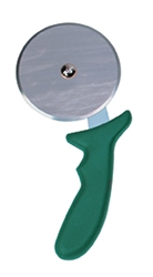 Pizza Cutter, Green Handle, 4Inch/10Cm Wheel