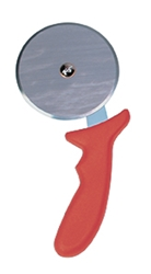 Pizza Cutter, Red Handle, 4Inch/10Cm Wheel