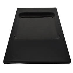 Contra Sq. Black Plate 30Cm W/Rect Recess (2 Pack)
