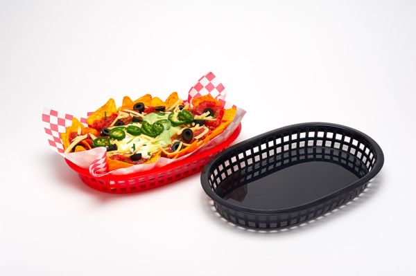 Fast Food Basket Pk 6 Black 23 X 15Cm