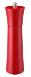 Colours Wooden Pepper Mill 21Cm / 8Inch - Red