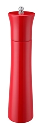 Colours Wooden Pepper Mill 24Cm / 9Inch - Red