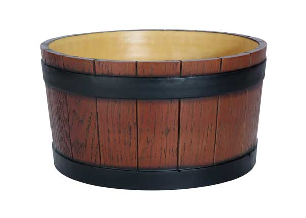 Barrell End Ice Tub 11L (Wood Grain)