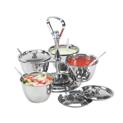 Relish Server Stainless Steel 4 Bowl