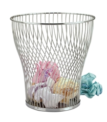 Chrome Wire Waste Paper Basket