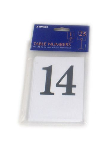 Number Cards  1 To 25