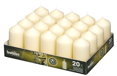 Bolsius® Professional Pillar Candle 98mm x 48mm Ivory (20 Pack) Bolsius, Professional, Pillar, 98mm, 48mm, Ivory, bolsius