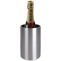 Olympia Brushed Stainless Steel Wine And Champagne Cooler